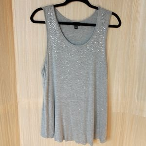 A.N.A petite sparkle stretchy tank top.  PXL